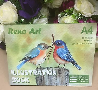 A4 Sketch Pad 100gsm Atrist Painting Art Paper Illustration Book Drawing Craft