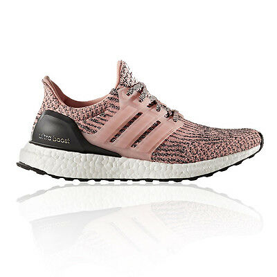 Adidas UltraBOOST Womens Pink Cushioned Running Road Sports Shoes Trainers