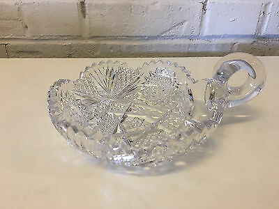 Antique ABP American Brilliant Period Cut Glass Nappy Dish