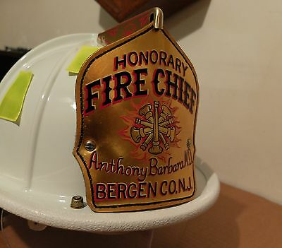Vintage NJ Fire Chief Helmet Cairns And Brothers Fire Helmet New Jersey