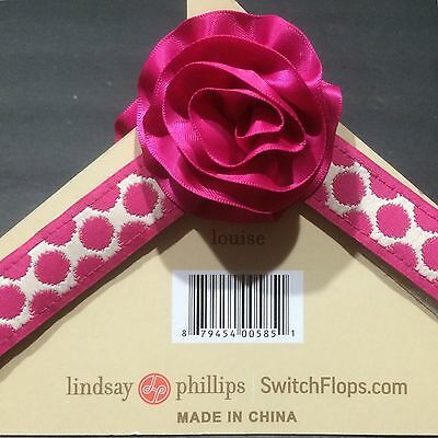 Lindsay Phillips Switch Flops Pink Polka Dot Louise Quick Change Shoes L 9 10 11