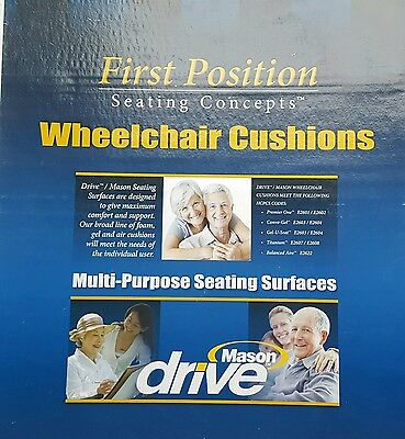 """First Position Seating Concepts Wheelchair Cushions size 18""""x16""""x3"""""""