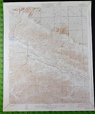 Angeles National Forest Lake California 1947 Antique USGS Topographic Map 17x20