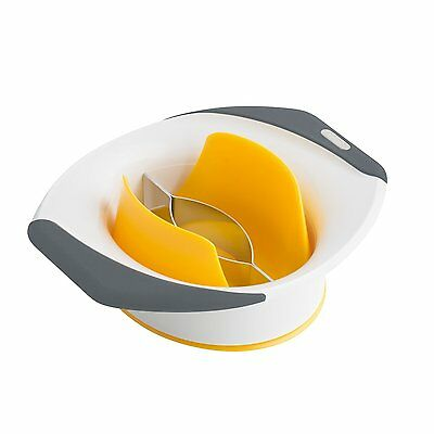 Zyliss 3-in-1 Mango Slicer, Peeler and Pit Remover Tool, White/Orange/Grey