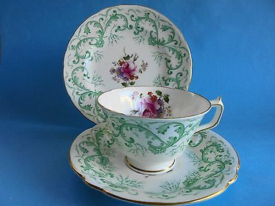 Vintage Royal Crown Derby Rutland Trio Cup Saucer Plate Hand Painted Pristine