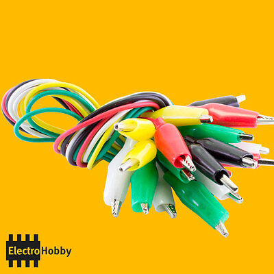 5x Cable with clamp crocodile 50 cm – Electronic, clamp, tip prueba, test