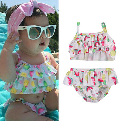 Newborn Kids Baby Girls Tankini Bikini Swimwear Swimsuit Bathing Suit Beachwear
