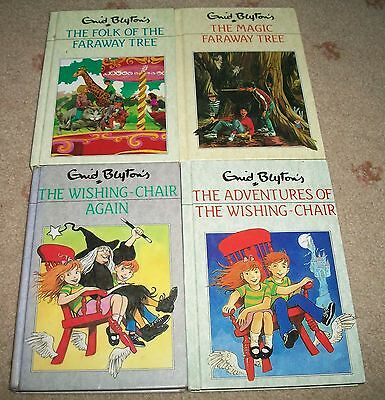 Lot 4 x The Magic Faraway Tree Books, Enid Blyton, Vintage, Matching Set Wishing