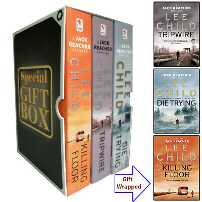 Jack Reacher Series Lee Child 3 Books Collection Gift Wrapped Slipcase Tripwire