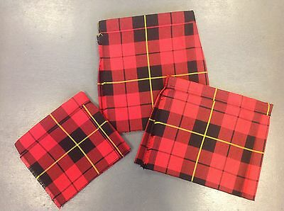 NEW baby Wallace tartan kilt age 0-6 6-12 12-24 months boy or girl childrens