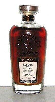 1988 Blair Athol 27 years old - Highlands - 70cl - 58,9% - Signatoty Vintage