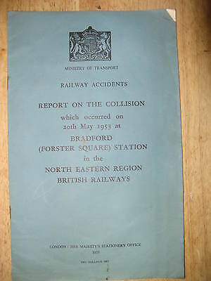 Railway Accident Report, Bradford (Forster Square) 1953