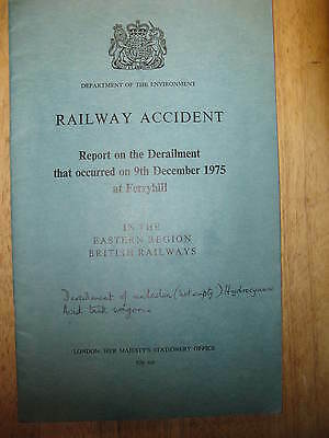 Railway Accident Report, Ferryhill 1975
