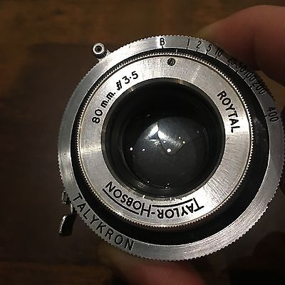 kershaw peregrine ii lens taylor hobson 80mm f3.5 rare lens and shutter only