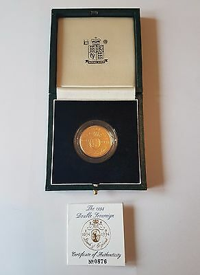 1994 £2 Gold Proof Bank Of England - Two Pounds - Double Sovereign - Fdc - Rare