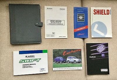 Suzuki Swift Owners Handbook Manual, Service Record & Welcome Pack, 2000-2004