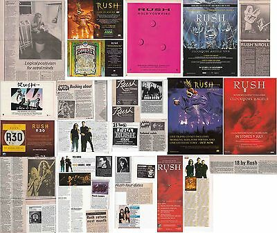 RUSH : CUTTINGS COLLECTION -adverts etc-