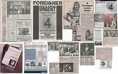 FOREIGNER : CUTTINGS COLLECTION -adverts interviews-
