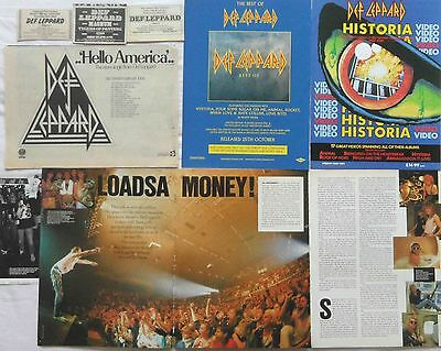 DEF LEPPARD : CUTTINGS COLLECTION -adverts interview-