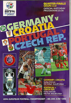 Euro 1996  -  Old Trafford  -  Germany  -  Croatia  -  Portugal  -  Czech Rep
