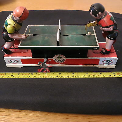 Vintage wind up tin plate ping pong game
