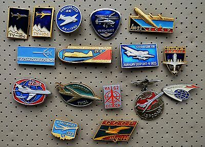 USSR RUSSIA SOVIET AIRCRAFT AIRPLANE-16 badges