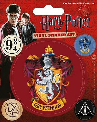 Harry Potter Gryffindor Vinyl Sticker Sheet 5 Stickers Official Licensed Product