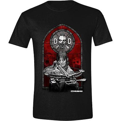 The Walking Dead Men's Dixon Stained Glass Short Sleeve T-Shirt (Small)