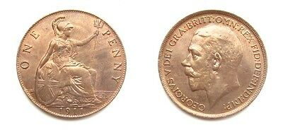 George V 1911 Bronze Penny - Very High Grade