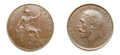George V 1912 Bronze Penny - High Grade