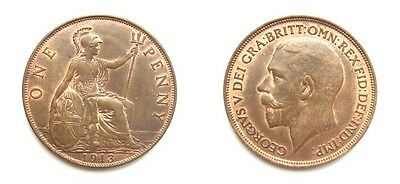 George V 1913 Bronze Penny - Very High Grade