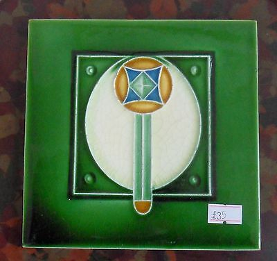 "Original  English  Art Nouveau tile , c1905 6""x6""Tile 1245"