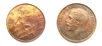 George V 1921 Bronze Penny - Very High Grade