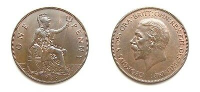 George V 1928 Bronze Penny - Very High Grade