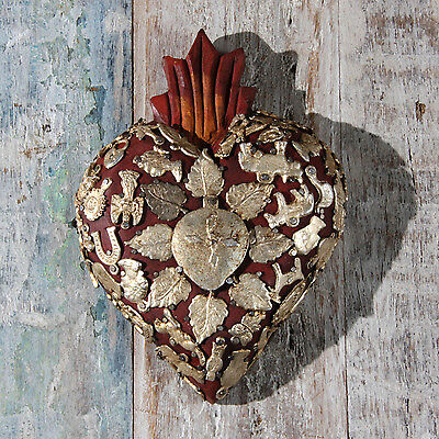 Mexican Milagro Heart Decoration Large B