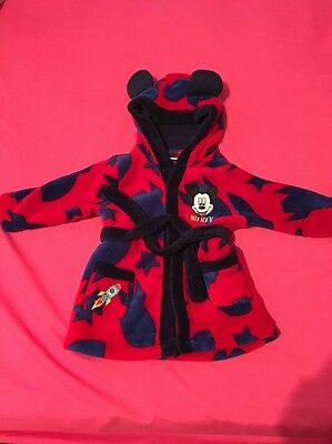 mickey mouse dressing gown age 6-9 Months