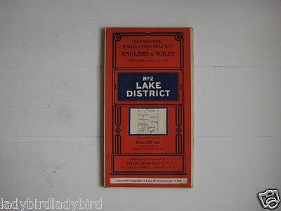 Geographia Lake District No2 Paper Map Red Cover