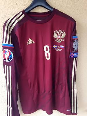 Rusia Match Issued Worn Trikot Jersey Em Quali 2016-Glushakow