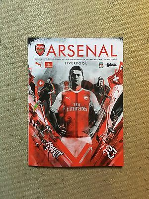 Arsenal vs. Liverpool 2016 10 Years at Emirates Stadium Commemorative Programme