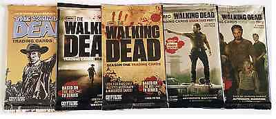 NEW RARE The Walking Dead Trading Cards Sealed 5 Packs Season 1, 2, 3 & extras