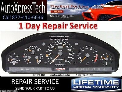 Mercedes S Class R129 and W140 Instrument Cluster REBUILD REPAIR SERVICE BEST!