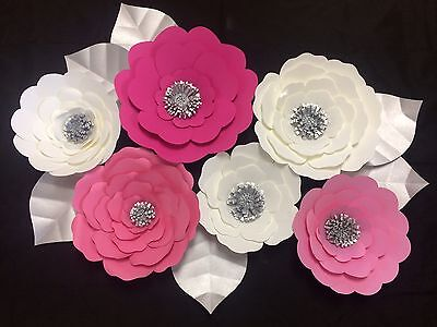 Large Paper Flowers Wall Decor Party Backdrop Wedding Baby Birthday
