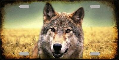 Lone Wolf Decorative Sign Tag License Plate