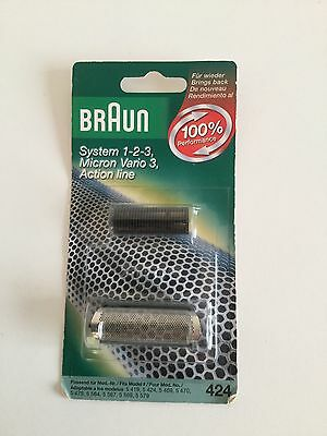 Braun System 1-2-3 Action Line 424 Replacement Foil & Cutter BN