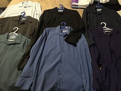 7 Calvin Klein LONG SLEEVED & COLLARED shirts - Great condition!  Size L