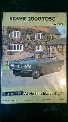 Rover 2000 TC and SC   workshop manual   1963 to 1972