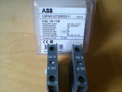 ABB CAL 18-11b 1SFN010720R3311 Auxiliary Contact For A145-AF1650 - 12m warranty.