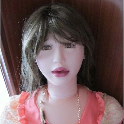 POUPEE GONFLABLE SUCEUSE REALISTE SILICONE BRUNE ORAL SEX DOLL Silikon-Puppe