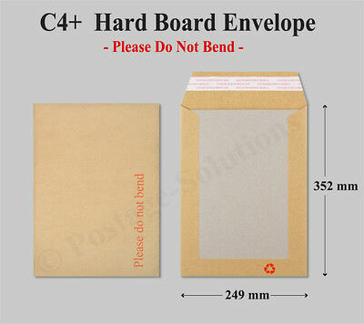 Largest Large Letter Size Hard Board Back Envelopes A4+ C4+ 352mm x 249mm Cheap