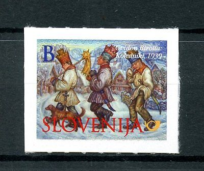 Slovenia 2016 MNH Christmas Value B Wassailers 1v S/A Set Stamps